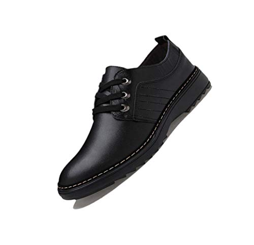 zmlsc Scarpe Casual da Uomo Business Soft Ribbon Round A Punta Primavera Autunno Estate Inverno Colore Canvas Sport,Black-40