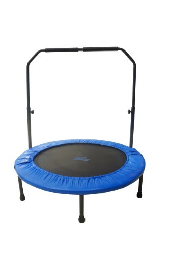 Upper Bounce 40' Mini Foldable Rebounder Fitness Trampoline with Adjustable Handrail