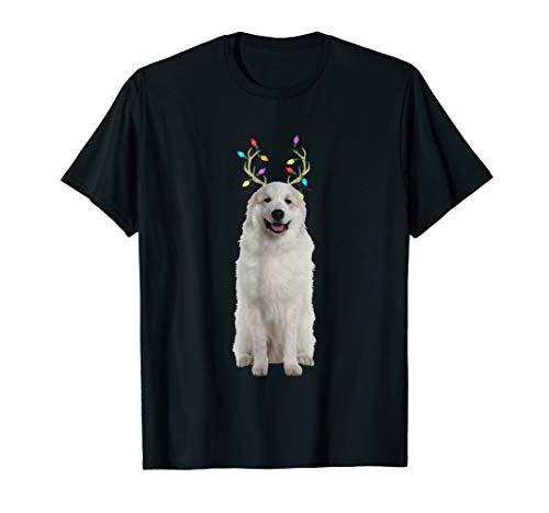 Great Pyrenees Reindeer Christmas Dog T-Shirt