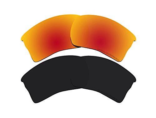 2 Pairs Polarized Lenses Replacement Red & Black for Oakley Quarter Jacket - Jacket Oakley Quarter