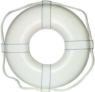 Cal June G19 19 White Ring Buoy W/Straps