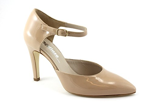 Nackte Frau Spitze Beige Band dcollet Schuhe Haut E1607 Farbe Melluso SZfn15q