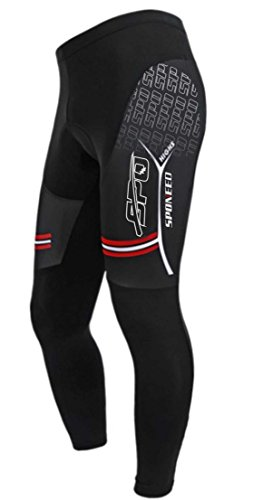 sponeed Cycling Tights Bike Pants for men Padded Breathable Bike Sportswear Bottom Asia L/US M Deepbrown Review