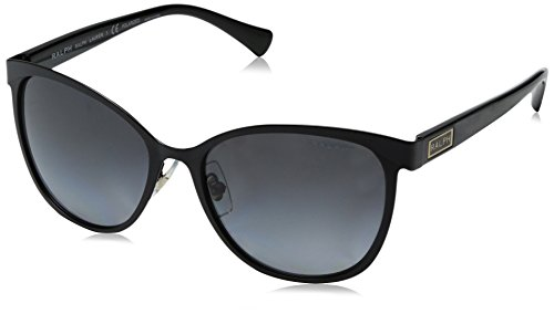 Ralph Lauren Sunglasses Women's 0ra4118 Cateye, Black Polarized, 54 - Lauren Eyewear Ralph