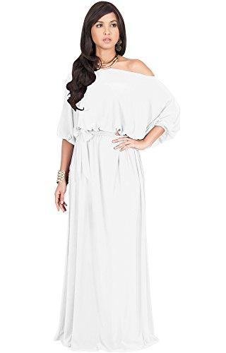 one shoulder jersey maxi dress - 8