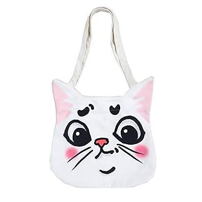 bda396e143e Amazon.com: Funny Dog Cute Canvas Handbag Japanese Korean Personality 3D  Animal Pig Cat Shoulder Small Shopping Bag Girls Harajuku Tote Bags Color  1: Shoes