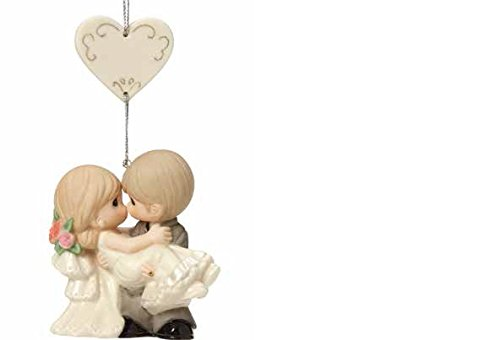 Precious Shower Bridal Moments - Precious Moments Wedding Gifts On the Threshold of A Lifetime of Happiness Bisque Porcelain Ornament 163010