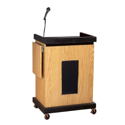 Smart Cart Mobile Lectern w Microphone Speakers M