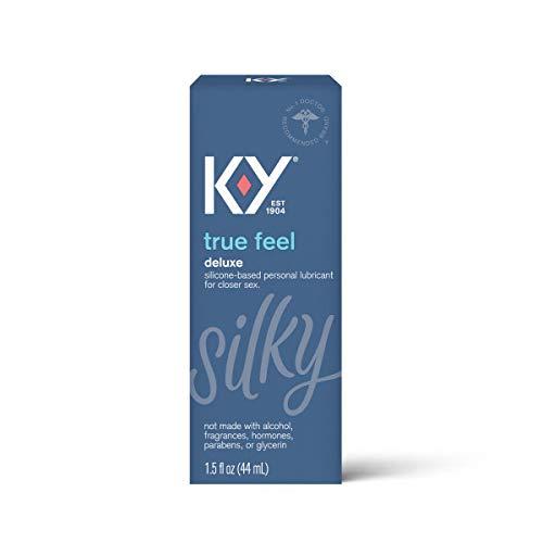 K-Y True Feel Premium Silicone Lubricant- Lube Compatible With Latex, Polyisoprene, Polyurethane, 1.5 oz.