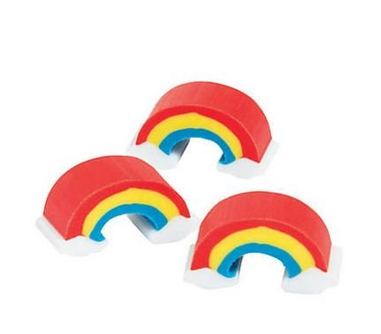 KIDSFUN Premium Kids Mini Rainbow Erasers 300 pieces