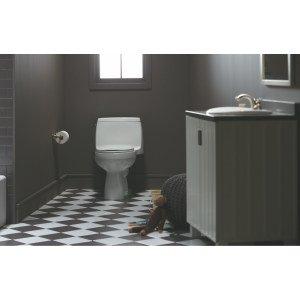Kohler 3810-0 Santa Rosa Comfort Height Elongated 1.28 Gpf Toilet With Aquapiston Flush Technology And Left-Hand Trip Lever, White