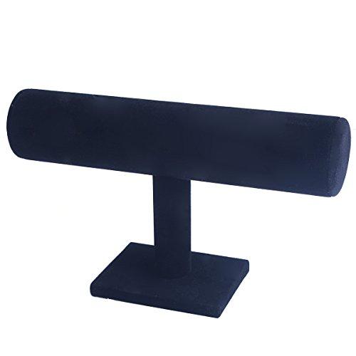 Black Velvet Bracelet T-Bar Jewelry Display Bangle