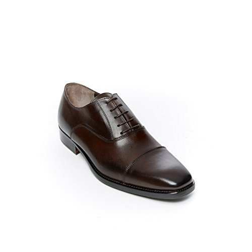 Toe Decorazione Passport Brown Testa con cap di Toe Moro Scarpa British Stringata Dark Uomo Francesina di Oxford Colore cap 4ScTRcqOn