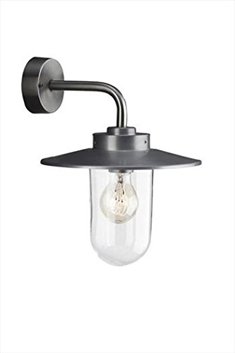 Massive Vancouver Outdoor Wall Light Stainless Steel (Requires 1 x 60 Watts E27 Bulb) 915000129401