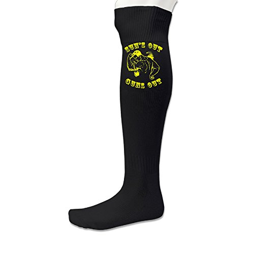 AOLM Men's Custom Sun's Out Guns Out Football Socks (1 - Ban Ray Warriors
