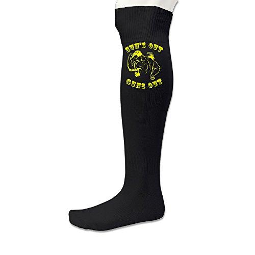 AOLM Men's Custom Sun's Out Guns Out Football Socks (1 - Birmingham Sunglasses