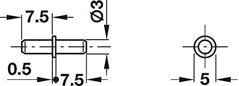 Bohrloch /Ø 3 mm H3101 Stahl glanzverzinkt 20 St/ück Regal-Halter zum Befestigen Fach-Bodentr/äger K/üche Regal-Halterung zum Einstecken