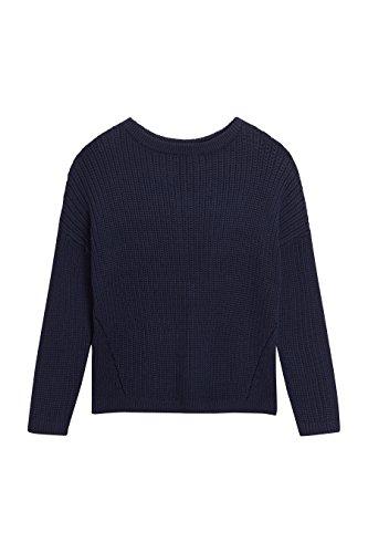 next Mujer Suéter Nudo Trasero Corte Regular Azul Marino