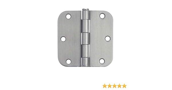 12 Pack 37557 Cosmas Satin Nickel Door Hinge 3.5 Inch x 3.5 Inch with 5//8 Inch Radius Corners