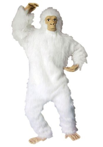 RG Costumes Men's Plus-Size White Gorilla, White, (White Gorilla Costume)