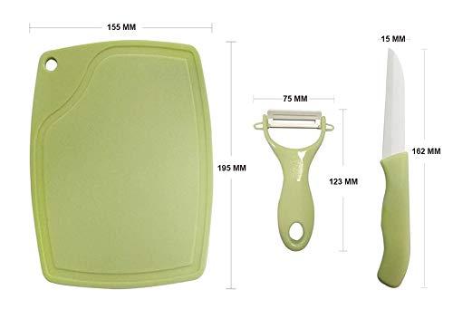 Ceramic Fruit Knife Peeler Set Fruit Paring Ceramic Knives Set for Kitchen Cutting Fruit & Vegetables Includes 2 Ceramic Knife &2 Paring Kinfe,2 Cutting Board by Eacolle (Image #5)