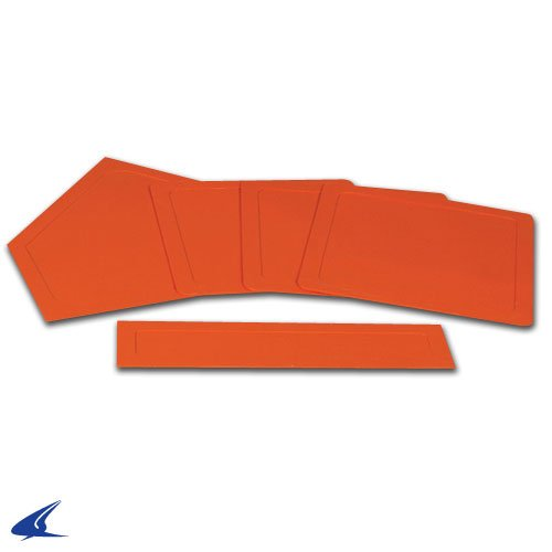 CHAMPRO Sports Throw Down Rubber Bases(Set/5) Orange ()
