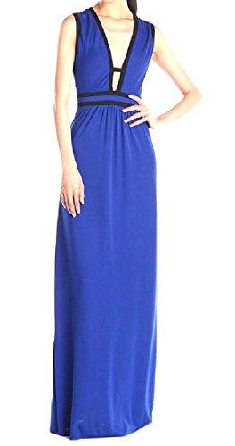 Mode Cou V Profond Des Femmes Coolred Pleine Longueur De Bleu Robe De Soirée