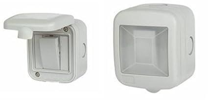 10A 1-Gang 2-Way Weatherproof Outdoor Switched Single Waterproof Switch Garden