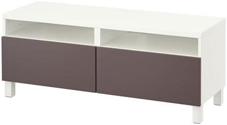 Ikea 4204.11115.1810 - Mueble de TV con cajones a presión, Color Blanco y marrón Oscuro: Amazon.es: Juguetes y juegos