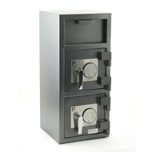 Loading Front Safe Drop - FDD-3214 Protex Dual Compartment Drop Safe/Front Loading