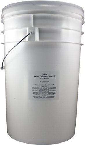 50 lb Pail of Pure Sodium Carbonate Dense Soda Ash Na2CO3 pH Adjust Chemical Spa Pool Cleaning Dishwasher (Water Pool Soda Ash)