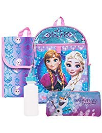 Disney Frozen Backpack Combo Set - Disney Frozen 5 Piece Backpack School Set - Anna & (Best Disney High School Back Packs)