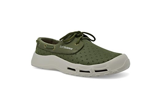 SoftScience The Fin Men's Boating/Fishing Shoes - Sage Green, Size 10
