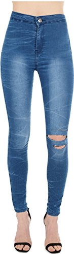 Mid Femme Blue HOXTON Effect Real Rope 34 Multicoloured Jeans vnZpzWq0