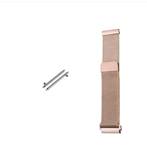 18 Mm Rose - Jurich Adjustable Magnetic Stainless Steel Metal Strap Replacement Band Bracelet Strap for Men's Women's Watch (18MM, Rose Gold)