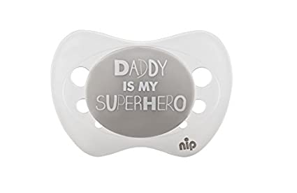 Nip Chupete Daddy is my Superhero, silicona, 0 - 6 meses: Amazon.es ...