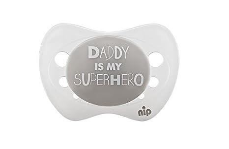 Nip Chupete Daddy is my Superhero, silicona, 0 - 6 meses ...