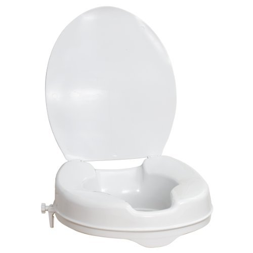 AquaSense Raised Toilet Seat with Lid, White, 2 Inches by (Best Aquasense Raised Toilet Seats)