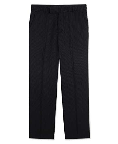 (Calvin Klein Big Boys' Flat Front Dress Pant, Black,)