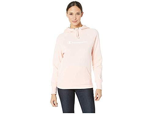 Champion Women's Fleece Pullover Hoodie, Primer Pink X-Large ()