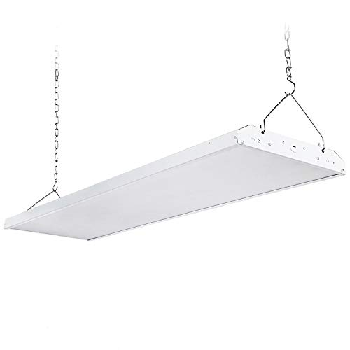 LEONLITE 4ft 225W LED High Bay Shop Light Fixture, 800W Fluorescent Equiv. Brightest Dimmable Linear Area Lighting, UL & DLC Listed, for Commercial Warehouse, Garage, Workshop, 5000K, 5 Years Warranty