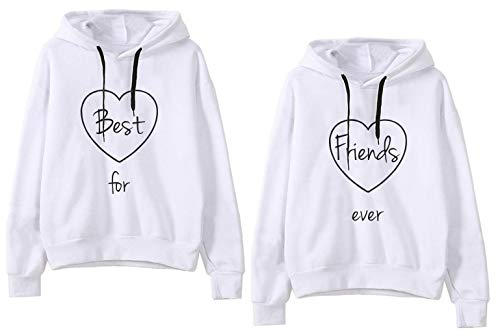 b1025d06 Best Friends Hoodies Matching for 2 Sweatshirt BFF Pullover Sweater Girl 2  Pcs - Buy Online in UAE. | Apparel Products in the UAE - See Prices, ...