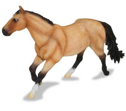 X-Large Quarter Horse Mare Buckskin Figure
