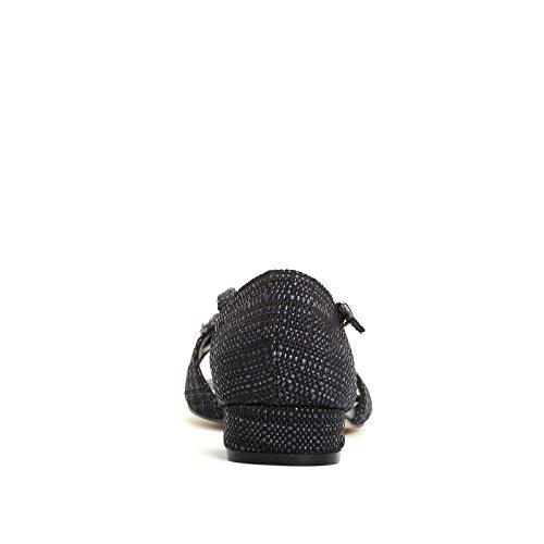 ALESYA by Scarpe&Scarpe - Sandali bassi con pietre, con Tacco 3 cm - 36,0, Nero