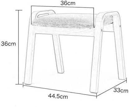 YUMUO Tabouret en Bois Massif Adulte Petit Banc Mode Tissu Canapé Famille Table Basse (Couleur: C)