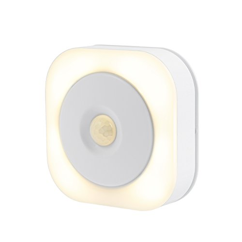 Motion Sensor Light, Battery Powered LED Night Light,Safe Wall Light for Hallway, Bathroom, Bedroom, Cabinet,Closet,Kitchen (Warm White) by DQZM