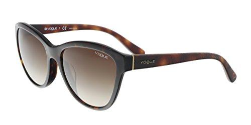 Vogue VO2993SF Sunglasses W65613-57 - Dark Havana Frame, Brown - Sunglasses Vogue Mens