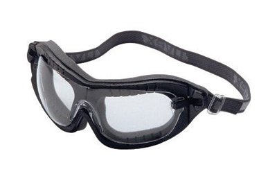 Uvex S1890X Fury Safety Goggles, Black Frame, Clear Uvextreme Lens, Flame Resistant Headband