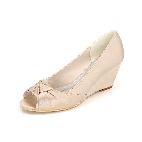 tacchi scarpe da color scarpe confortevole damigella banchetti alti Champagne Qingchunhuangtang scarpe vestono con Dancing Pendenza donna UZq7f