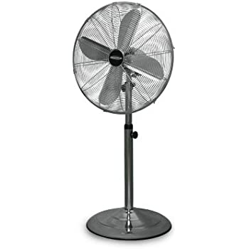 metal pedestal fan metal stand fan home amp kitchen 4097